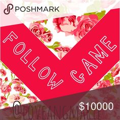 FOLLOW GAME I will follow those that follow me and like this post 🌼 feel free to comment with others but NO ADVERTISEMENT🌼 share share share 🌼 I share other people's follow games so please do the same 🌼 CHECK OUT MY CLOSET 🌼 Accessories