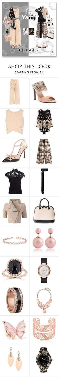 """the Ying and the Yang of fashion"" by quicherz on Polyvore featuring self-portrait, Donald J Pliner, Jonathan Simkhai, Kate Spade, Vivienne Westwood Anglomania, Alice + Olivia, Alexandre Vauthier, Yigal Azrouël, Aspinal of London and Allurez"