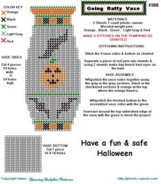 Halloween vase PC pattern - could be adapted for other patterns.