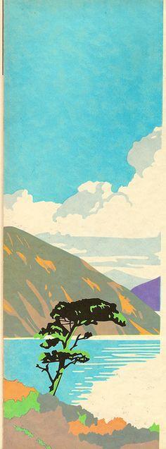 Brain Cook of Batsford - mountain landscape - illustration using Berte method, c1935 by mikeyashworth, via Flickr