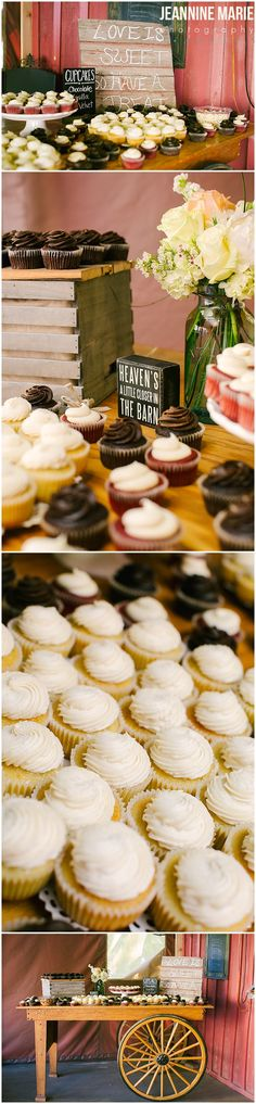 Wedding cupcakes by Dessert First for a country wedding at @hopeglenfarm in Cottage Grove, MN. Photos by Minnesota wedding photographer Jeannine Marie Photography #dessert #cupcakes #weddingcupcakes #weddingdesserts #weddings #hopeglenfarm #yum #food #weddingreception #loveissweet #jeanninemariephtoography #minnesotaweddingphotographer #saintpaulweddingphotographer