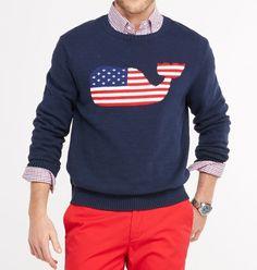 Whale Intarsia Cotton Slub Sweater