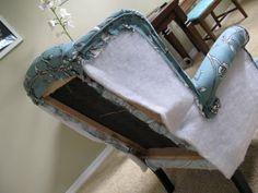 Restaurer un fauteuil : http://modestmaven.blogspot.fr/2011/04/vintage-blossom-wingback-chair.html