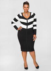 Intarsia Bodycon Sweater Dress Body Shapes Pinterest