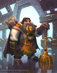Cresh the dwarf cleric , Jordan Kerbow on ArtStation at http://www.artstation.com/artwork/cresh-the-dwarf-cleric
