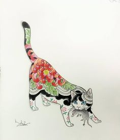 Pencil Drawing Color The lone Ronin — ilikehorimono: Color pencil drawing Illustrations, Illustration Art, Japanese Cat, Asian Tattoos, Japanese Tattoo Art, Art Japonais, Cat Drawing, Drawing Ideas, Cat Tattoo