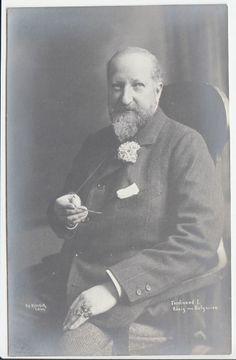 Tsar Ferdinand of Bulgaria - Prince Saxe Coburg as civilian - RARE pcd