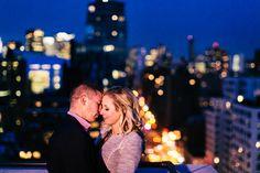 NYC Manhattan Rooftop Engagement Photos