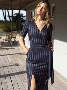 Made In France, Wrap Dress, Shirt Dress, Collection, Shirts, Dresses, Fashion, Civil Wedding, Shopping