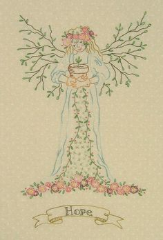 """Hand Embroidery Pattern - Gardener's Angel of Spring """"Hope"""" - Crabapple Hill Studio. This is my next one to complete!"""