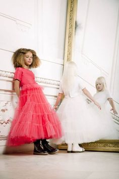 Junior Gaultier Couture: Jean-Paul Gaultier bringing out childrenswear Fashion Kids, Little Fashion, Young Fashion, Girl Fashion, Jean Paul Gaultier, Couture Outfits, Couture Dresses, Girls Dresses, Flower Girl Dresses