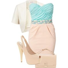 A fashion look from August 2012 featuring Elise Ryan dresses, Jacques Vert jackets y River Island pumps. Browse and shop related looks.