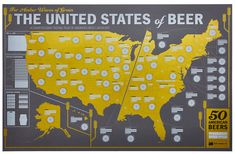 The United States of Beer: Unique Beer Tasting Map