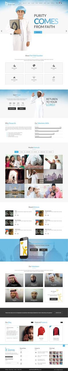 The Child Guardian is a modern, unique and clean WordPress theme for charities and not for profit organisations. #Muslim #Mosque #Allah #charity