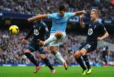 Sergio Aguero and Alvaro Negredo lay down a Manchester marker  Manchester City, Markers, Running, Sports, Football Soccer, Greece, Racing, Hs Sports, Sharpies