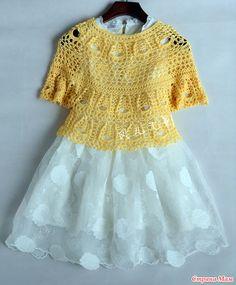 . Солнечный зайчик. Ажурная блуза с круглой кокеткой.