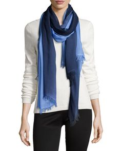 Voile+Ombre+Stole,+Navy+by+Armani+Collezioni+at+Bergdorf+Goodman.