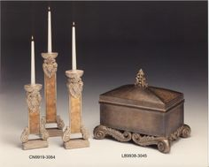 CANDLEHOLDER 3/SET 36,43,48H - Marco Polo - Antiques online -