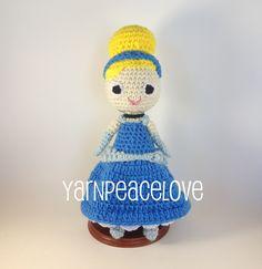 Crochet Cinderella inspired doll by #yarnpeacelove    www.facebook.com/YarnPeaceLove