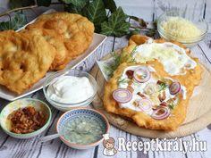 Piaci lángos   Receptkirály.hu Hummus, Ethnic Recipes, Food, Essen, Meals, Yemek, Eten