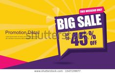 Sale Banner Template Design Poster This Stock Vector (Royalty Free) 1547139977 Sale Banner, Sale Promotion, Banner Template, Royalty Free Stock Photos, Templates, Poster, Design, Stencils