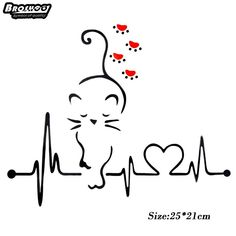 Lovely Cat Heartbeat Paw Car Decal – I Love Cat Socks - crazy cats Body Art Tattoos, Tatoos, Cat Tattoo Designs, Cat Crafts, Cat Drawing, I Love Cats, In A Heartbeat, Rock Art, Cat Art