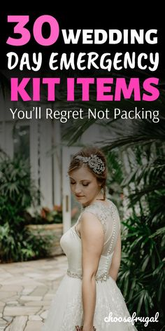 These wedding day emergency kit items are essential for any bride. Don't be caught off guard on your wedding day with these survival items! Wedding Reception On A Budget, On Your Wedding Day, Wedding Tips, Wedding Ceremony, Wedding Planning, Emergency Kit Items, Cheap Wedding Decorations, Diy Wedding Projects, Wedding Preparation