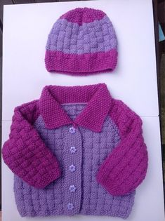 Excited to share this item from my shop: Girls Cardigan with Matching Beanie - Handknitted - age months Knitted Baby Cardigan, Pink Cardigan, Knitted Hats, Baby Dungarees, Indigo, Mermaid Tail Blanket, Knit Fashion, Violet, Girl Gifts