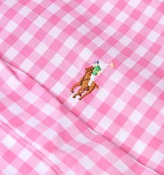 Polo Ralph Lauren Pink & White Checked Slim Fit Shirt
