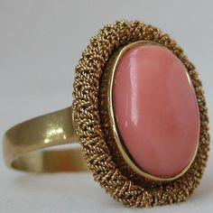 Estate Gold Coral Ring