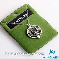 MacInnes Clan Crest Pewter Pendant