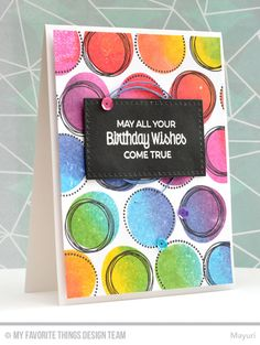 A cheery, rainbow coloured card for July Countdown Day 1 Handmade Birthday Cards, Happy Birthday Cards, Birthday Greeting Cards, Birthday Wishes, Handmade Greetings, Greeting Cards Handmade, Card Making Inspiration, Making Ideas, Card Sketches