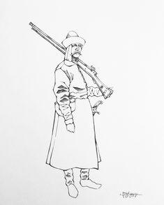 Mingrelian gunner. XVII century Military Costumes, Central Asia, Military History, Georgian, Archaeology, Warriors, Armour, Pintura, Georgian Language