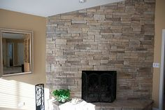 Stone Fireplace with TV | North Star Stone- Stone Fireplaces & Stone Exteriors: Stone Fireplace ...