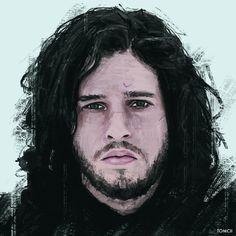 Jon Snow #art #painting #drawing #illustration #face #portrait #digital #artist #cold #got #game #thrones #gameofthrones #jon #snow #kit #harington