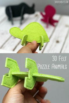 These Puzzle Animals are so much fun to build with - and fast to sew! Perfect handmade felt toy for little hands. These Puzzle Animals are so much fun to build with - and fast to sew! Perfect handmade felt toy for little hands. Sewing For Kids, Diy For Kids, Crafts For Kids, Basic Sewing, Sewing Toys, Sewing Crafts, Felt Crafts, Fabric Crafts, Craft Projects