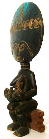 Akuaba doll  Ethnic Group: Asante  Country of Origin: Ghana, Africa  Measurement: 41x 13x 77x (cm)  Materials: Wood  Approximate Age: Mid 20th century