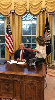 Sarah Palin cozies up to Trump and Jared Kushner in the White House Jared Kushner, Sarah Palin, 2016 Presidential Election, Very Well, Presidents, Facebook, Lifestyle, News