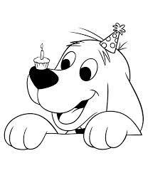kleurplaten verjaardag hond