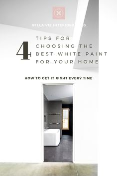 Is choosing white paint doing your head in? I have six go-to white paints. If you know these, choosing white paint for your home is easy! See how I choose the perfect white paint every time. Interior Design Resources, Interior Design Business, Free Interior Design, Interior Styling, Free Design, Best White Paint, White Paints, Serene Bathroom, Modern Bathrooms