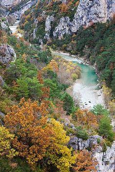 The Gorges du Verdon in Autumn, Provence, France