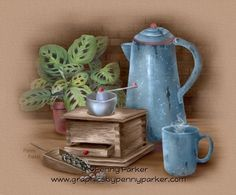 Providing Fine Art Prints, Graphic CD's, and Linkware graphics from my own original artwork with a variety of themes. Painting On Wood, Painting & Drawing, Penny Parker, Kitchen Labels, Tea Art, Fb Covers, Coffee Love, Kitchen Art, Vintage Cards