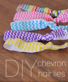 Lovely Little Snippets: DIY Chevron Hair Ties