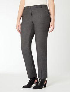 Pantalone in doppio di lana stretch