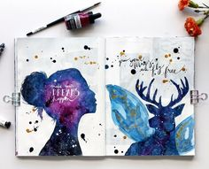 inspired by artist @danielle_foye who's art is mind blowing #artjournaling #creativelife #