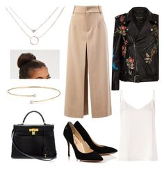A fashion look from September 2017 featuring white tank top, leather motorcycle jacket and high-waisted pants. Browse and shop related looks. Elsa Peretti, Fashion Outfits, Shoe Bag, Clothing, Polyvore, Stuff To Buy, Shopping, Collection, Shoes