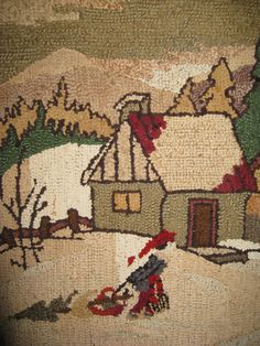 Christmas scene ... hooked rug... mine :)
