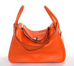 Hermes Orange Swift 30cm Lindy Bag