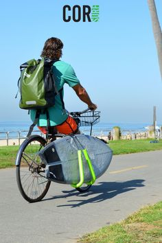 Our bike rack holds up to two longboards, surfboards or SUP boards. Keeps your boards safe while cruising to the beach! Surfboard Storage, Surfboard Rack, Bike Storage, Surf Accessories, Sup Boards, Outdoor Gadgets, Bicycle Rack, Bike Mount, Canoe And Kayak