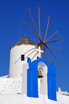 Windmill in Oia, Santorini